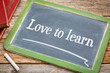 Love to learn blackboard sign
