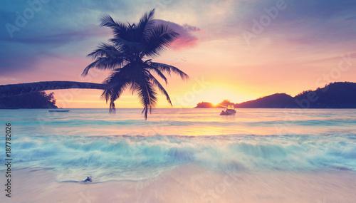 Motiv-Rollo Basic - traumhafte Seychellen (von Jenny Sturm)
