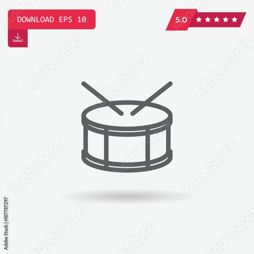 Canvastavla drum vector icon