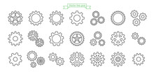 Gear Icon Line, Thin, Vector, ...