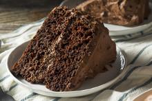 Sweet Homemade Dark Chocolate Layer Cake
