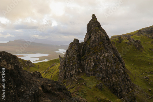Keuken foto achterwand Grijze traf. Skye, The Storr Scotland