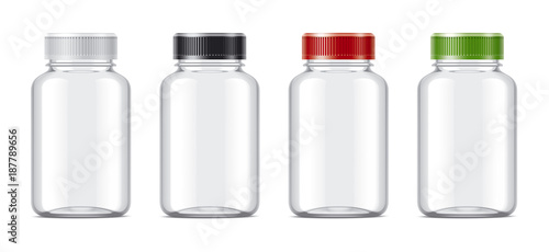 Photo  Blank bottles mockups for pills or other pharmaceutical preparations