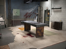 Staged Post Mortem Room As A C...