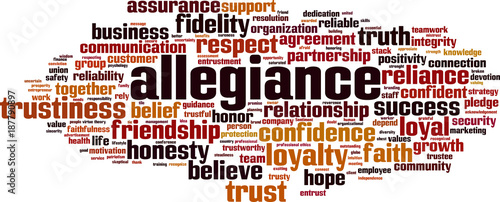 Allegiance word cloud concept Wallpaper Mural