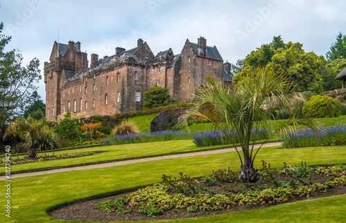 Ruins of the Brodick Castle on the Isle of Arran  in the Firth of Clyde, Scotland Canvas Print