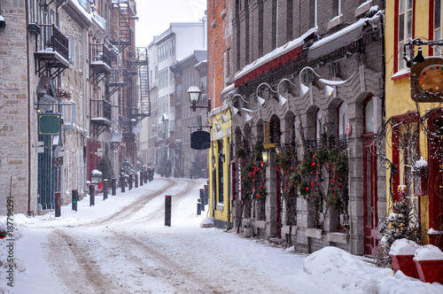 Old Quebec city in winter