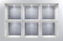 The Shelves In Shop Window. Ve...