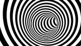 Fototapeta Fototapety do przedpokoju - Black and white hypnotic spiral. 3d rendering