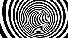 Black And White Hypnotic Spira...