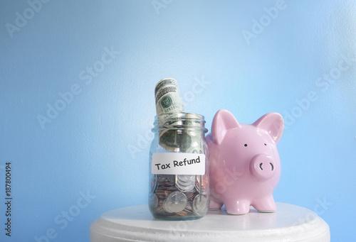 Fototapeta Tax refund money obraz
