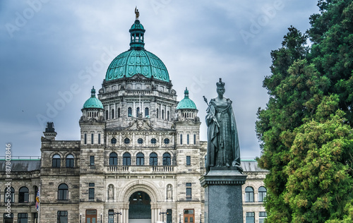 Fototapeta The British Columbia Parliament Buildings, located in Victoria, Vancouver Island, BC, Canada. Home to the Legislative Assembly of the province. obraz