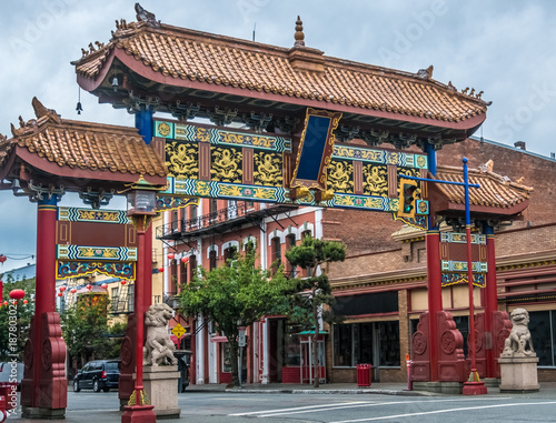 Chinatown in Victoria, Vancouver Island, British Columbia, Canada. The oldest Chinatown in Canada and the second oldest in North America after San Francisco's.