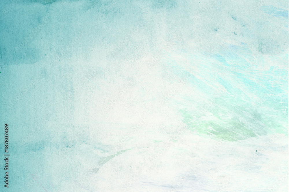 Fototapeta türkis grüne Pastellfarbe auf Wand - Grafik Design