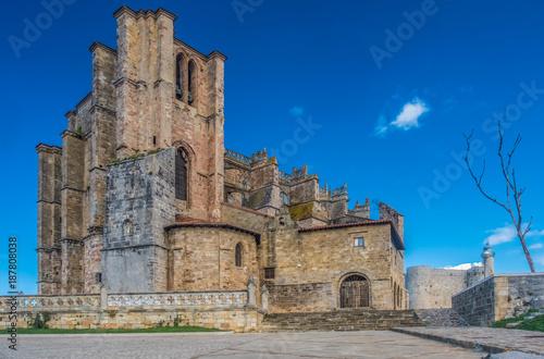 The church of Santa Maria de la Asuncion, Castro Urdiales on the Bay of Biscay, Cantabria, northern Spain Wallpaper Mural