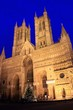 Lincoln Cathedral by night.