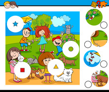 Match Pieces Puzzle With Child...