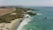 California circa-2017, Aerial view of rugged California coastline. Shot with Cineflex and RED Epic-W Helium.