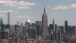 New York City, New York circa-2017, Aerial shot of Manhattan buildings in New York City. Shot with Cineflex and RED Epic-W Helium.