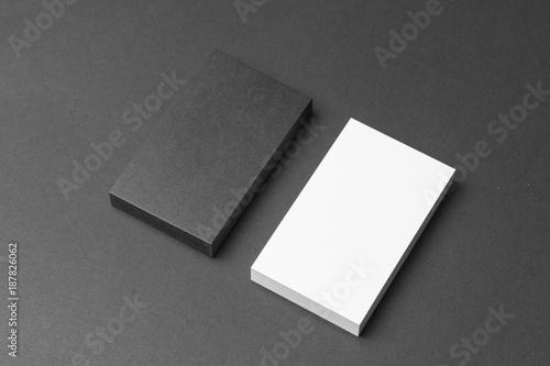 Valokuva  Business card on black background