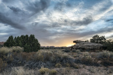 Clouds Over Desert In Moab, Ut...