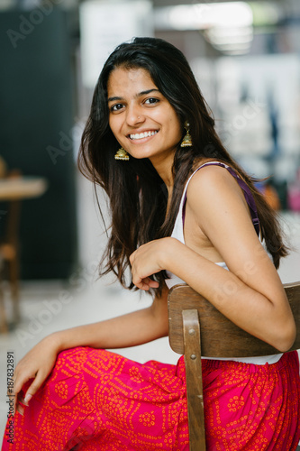 attractive indian woman