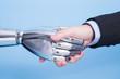 shake with robot hand