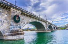 Famous And Historic London Bridge At  Lake Havasu City, Arizona