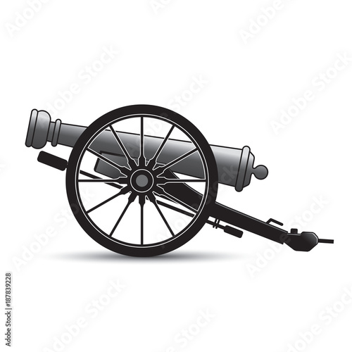 Photo isolated antique cannon vector cartoon
