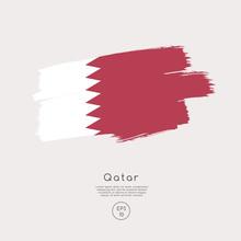 Flag Of Qatar In Grunge Brush ...