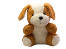 Cute Dog Doll Isolated On Whit...