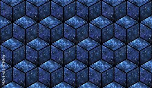 3d cubes Canvas Print