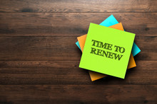 Time To Renew, The Phrase Is W...