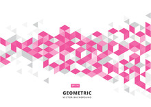 Abstract Pink Geometric Backgr...