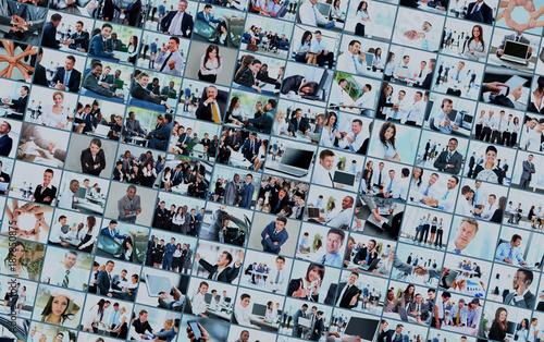 Fototapeta Business collage made of many business pictures obraz na płótnie