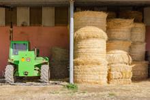 Farm Bails Of Hay