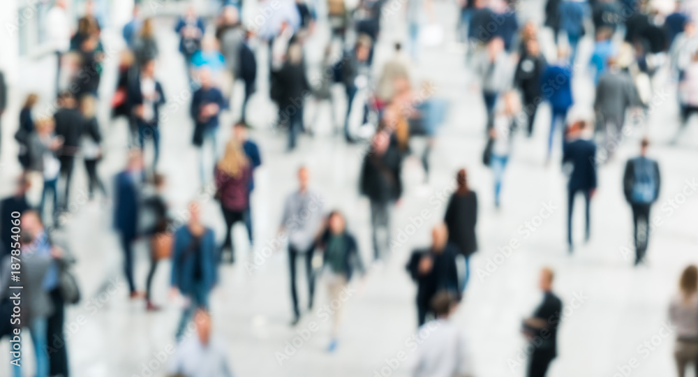 Fototapeta blurred crowd of people business concept