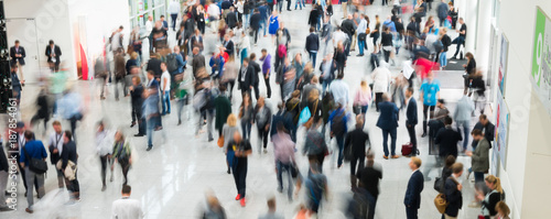 blurred crowd of people business concept