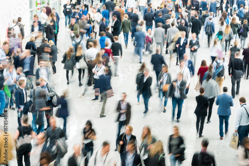 Fotografie, Obraz  blurred crowd of people business concept