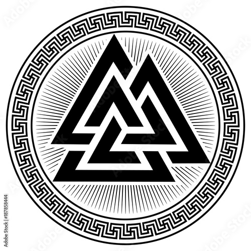 Fotomural Valknut ancient pagan Nordic Germanic symbol