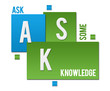 ASK - Add Some Knowledge Green Blue Squares Text