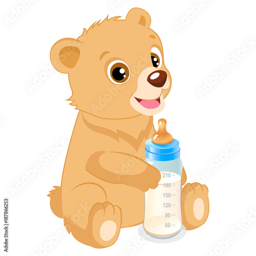 Cute Teddy Bear With Feeding Bottle Cartoon Vector Character Baby Feed Theme Healthy Eating For A Healthy Buy This Stock Vector And Explore Similar Vectors At Adobe Stock Adobe Stock