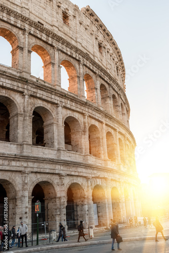 Printed kitchen splashbacks Historical buildings Colosseum in Rome. Italy. Sunny.