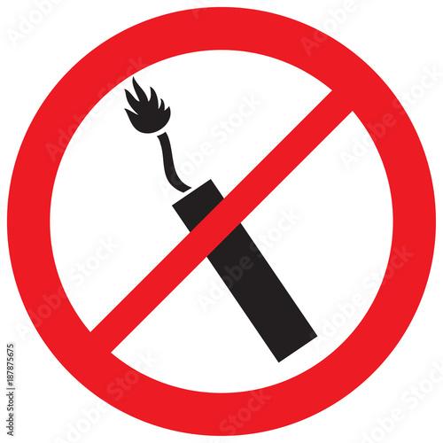 Valokuva  dynamite sticks not allowed sign