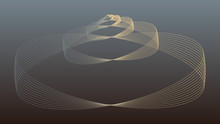Stylized Wired Seashell In Sil...