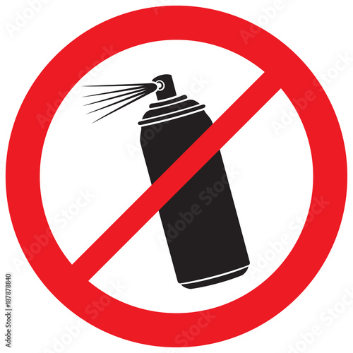 Photo no aerosol spray sign (prohibition icon)