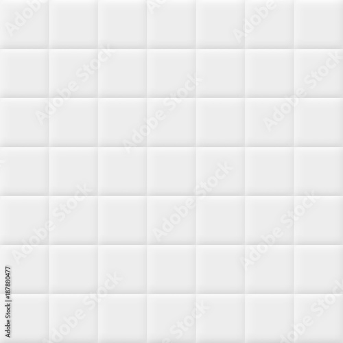 White background with tiles. Vector seamless pattern. Fototapete