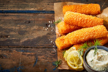 Deep Fried Fish Fingers With L...