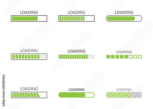 Obraz loading bar progress icons - fototapety do salonu