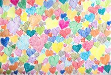 Background With Colorful Heart...